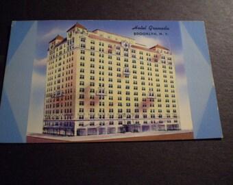 orig Postcard HOTEL GRANADA Brooklyn near BAM circa  1950s