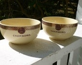 Pair of Chambord Serving Bowls Dessert Vintage Collectible French Cafe