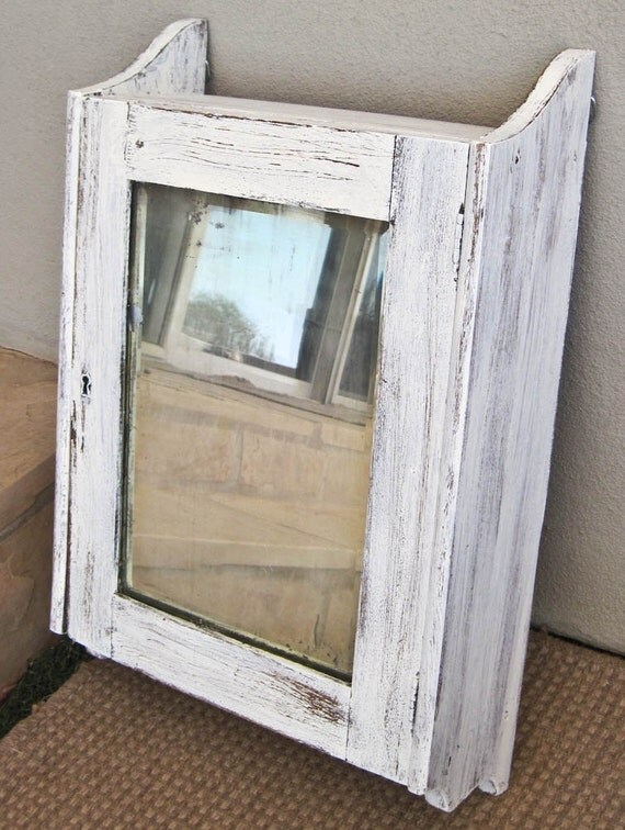 shabby chic wall cabinet rustic shabby antiqued mirror storage cabinet