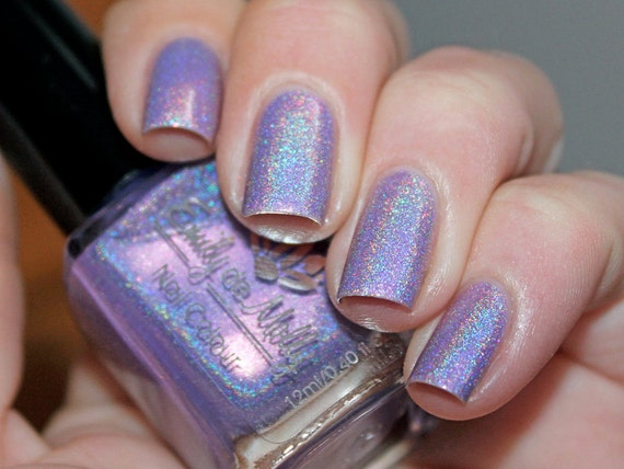 Nail polish Head over heels light purple linear by ...