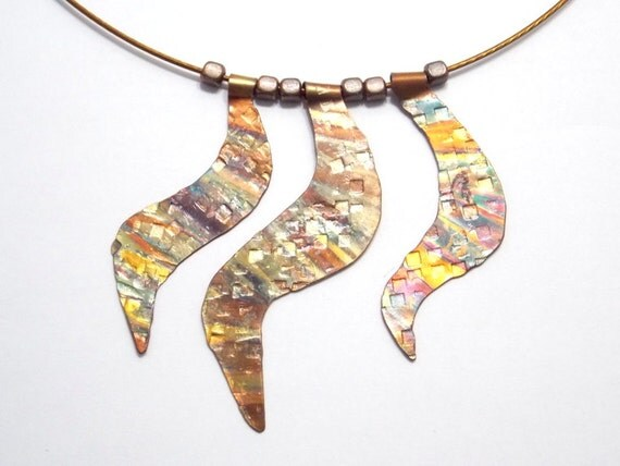 Copper Jewelry Bohemian Necklace Choker Flame Painted Fashion Jewelry