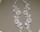 Large Ivory Bridal Lace applique - AppSet- 23