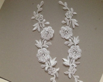 Large Ivory Bridal Lace applique - AppSet- 23