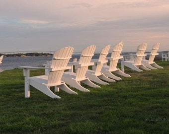 Cottage Decor, Chairs at Castle Hill, Newport Rhode Island, Fine Art Print, Home Decor, Coastal Home, Bedroom Wall Art, RI Pictures