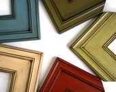 Sizes 4x4 to 8x8 Wood Picture Frame / Plein Air Style / Glazed Finishes