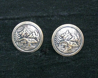 Early 1900s Button Cufflinks