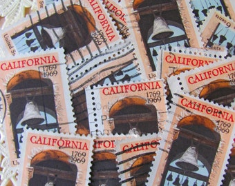 Rock The Bells 50 Vintage California 6cent US Postage Stamps 1960s Scott 1373 Wedding Bells Equality LGBT Gay Marriage Lesbian Peach Brown
