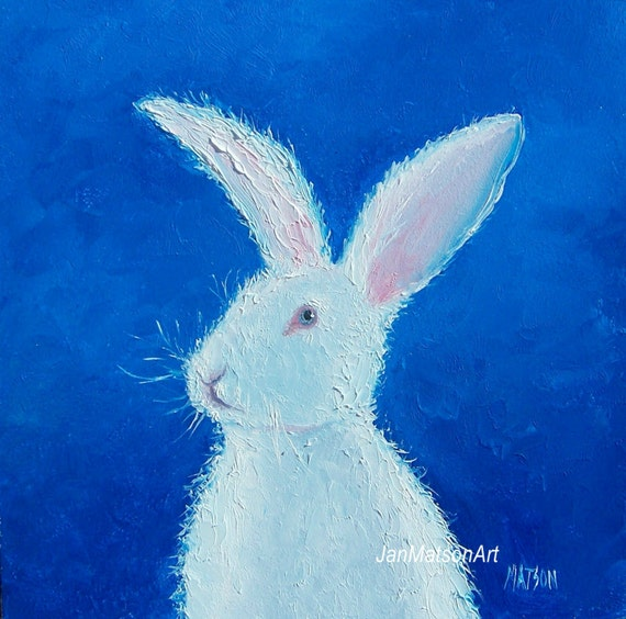 Easter bunny art Rabbit painting nursery paintings by ...