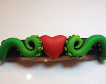 Polymer Clay Tentacle  Barrette