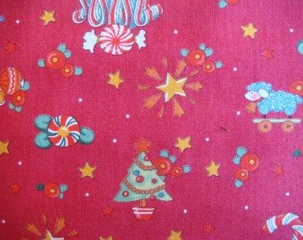 Sale Priced! - Moda quilting Fabric - Mary Englebrieght Christmas Print