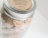 Fleur de Sel Caramels - 1/2 lb in an - I Love You Mason Jar