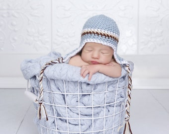 Baby Boy Striped Hat