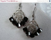 FINAL SALE Garnet Red Swarovski Chandelier Earrings January Birthstone