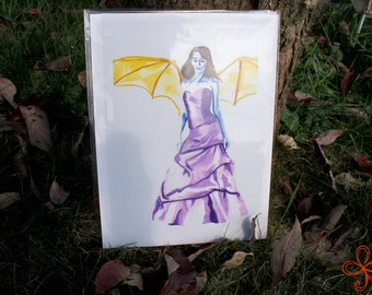 Unconventional Angel Watercolor Painting PRINT