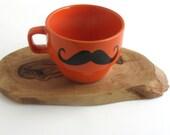 Orange Mustache Shaving Set-Customize-Grooming Kit