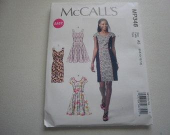 Pattern Ladies Dress 4 Styles Sizes 6 to 14 McCalls P346