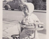 Child on Toy Scooter -  Vintage Photograph, Vernacular Photo, Ephemera (CCC)