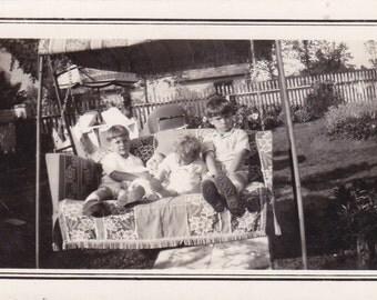 Vintage Photo - Children on a Swing - Vintage Photograph (N)
