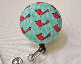 Swivel Clip Badge Reel in Coy Cardinal