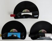 Dean Martin Upcycled Vinyl Record Wine Rack Wall Organizer - Set of 3