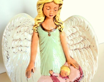 Vintage Angel with Baby Handmade by Visitation Tyringham a Monastery in Massachusetts