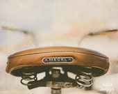 Bike Print, Whimsical, Vintage Style Bike, Hipster Style Print, Boys Room Decor, Bike Decor, Vintage Style Decor, Brown Print, Bike Seat