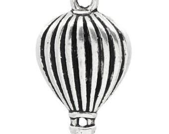 2 Little Hot Air Balloon Pendant Charm 21mm