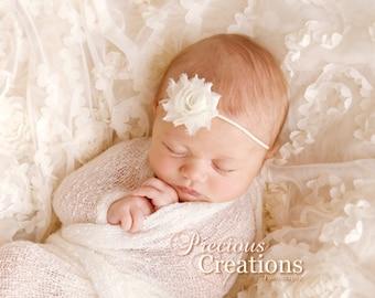 MINI Shabby Chic Rose Headband - Infant Headband - Newborn Headband - Children's Headband