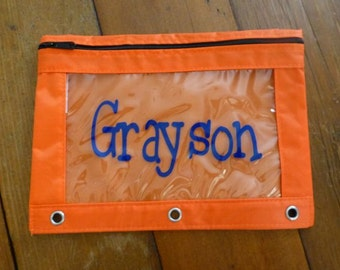 Personalized Pencil Bag - assort colors available