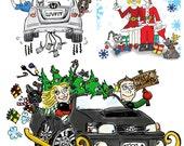 Seasonal Custom Illustrations (Pets, People etc)