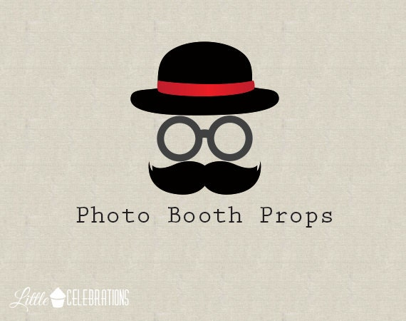 Printable Photo Booth Props - Photo Booth Printables - Glasses Props - Hats Props - Moustaches Props - Birthday Photo Booth - PDF Downloads