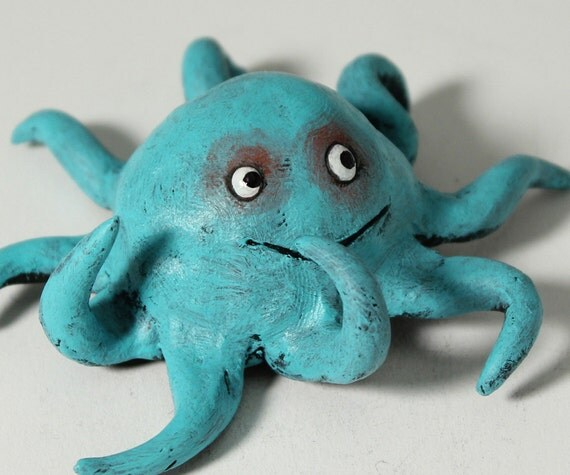 RESERVED FOR MERCHELE: Claire squid sculpture