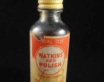 Watkins Red Polish 1 1/2 Ounce Trial Size Bottle