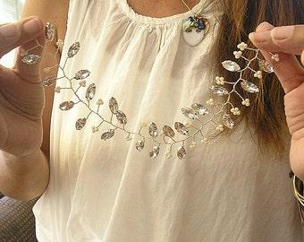 Bridal Hair Vine Wedding Accessories Sparkle Rhinestones Crystal