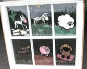 Reverse Painted Window Pane - of Fun on the Farm