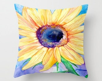 Decorative Pillow Cover - Floral Sunflower - Floral Throw Pillow Cushion - Fine Art Home Decor