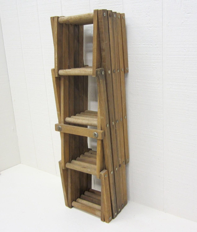 Vintage Wine Rack Wooden Accordion Style Large Wine Rack