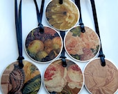 Fruit and Flowers Metal Rim Tags (Set of 6)