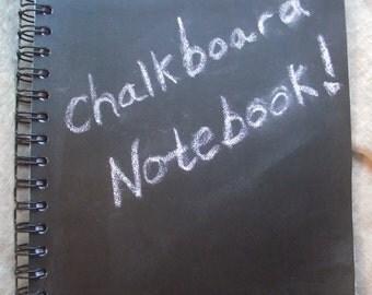 Chalkboard Notebook Blank Idea Journal Portable Chalk surface Back to School Desk Accessory Notebook Erasable Tablet notebook Decorative