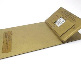 Vintage Metal Clipboard with Perpetual Calendar