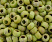 Seed Beads-8/0 Round-4515 Picasso Chartreuse Matte-Miyuki-16 Grams