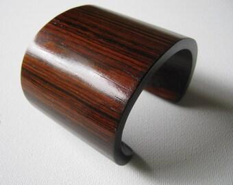 Chunky Cocobolo Cuff Bracelet