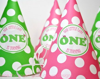 Lady Bug Party Hats