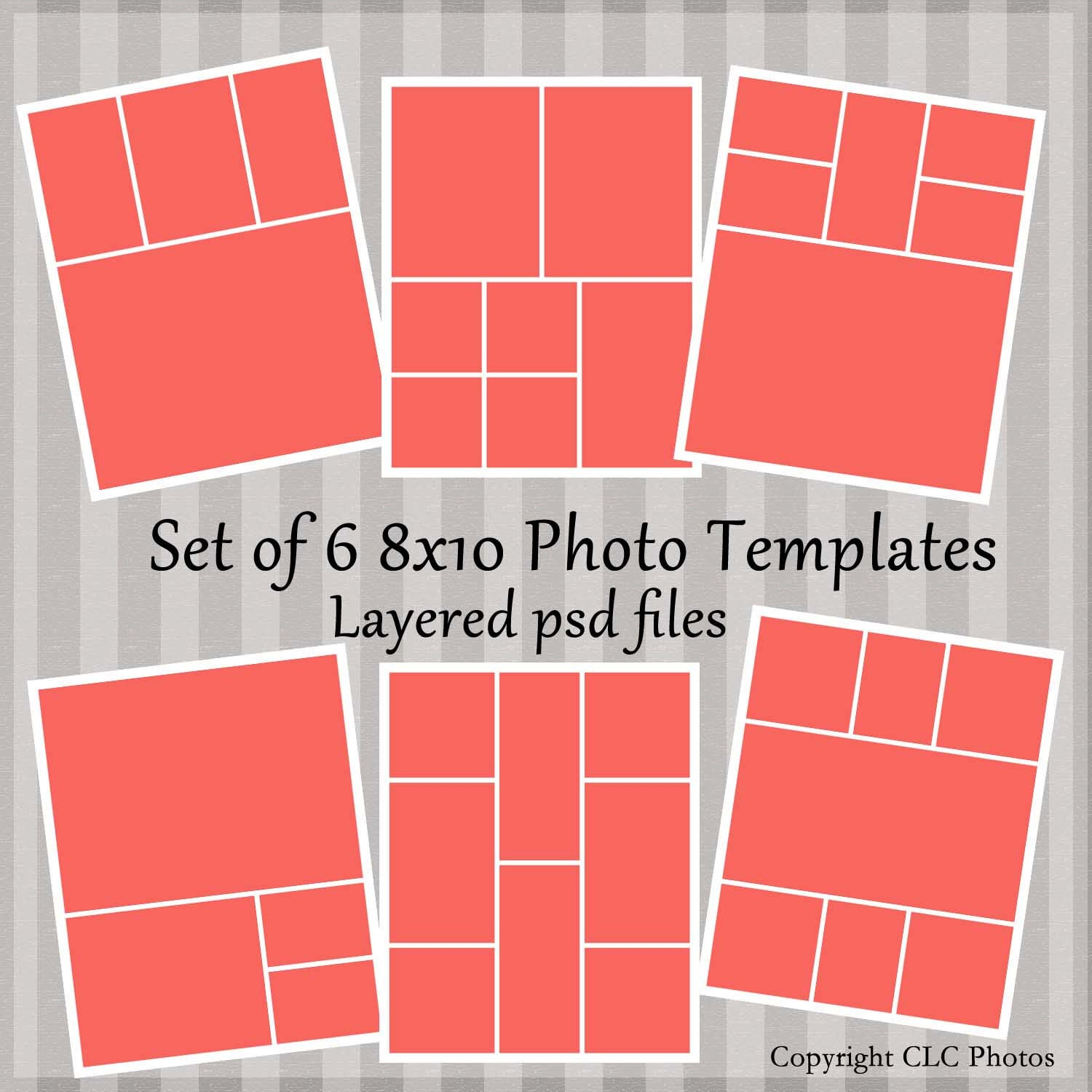 8x10 marketing photo template collage story board layered psd. Black Bedroom Furniture Sets. Home Design Ideas