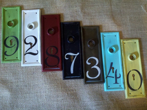 House Number Apartment Number Old Door Hardware By