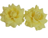 12 PCS. 1.75 inches Mini Yellow  Rose flower Craft and Decoration