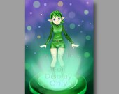 Saria Legend of Zelda Ocarina of Time 5x7