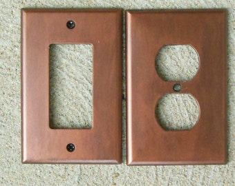 """Antiqued Copper """"Made to Order"""" Light Switch, Outlet, GCFI, Dimmer, Rocker"""