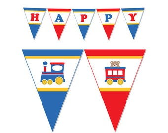 PRINTABLE Train Party Banner