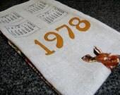 Vintage Australia Linen Tea Towel